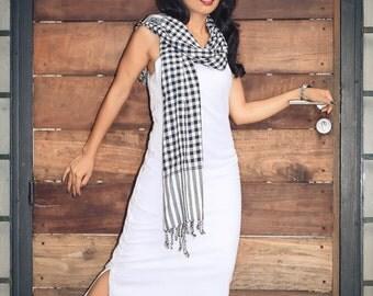 AIMEE White Cotton Maxi Dress