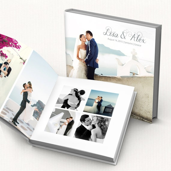 items similar to wedding album digital template fully editable modern wedding photo book. Black Bedroom Furniture Sets. Home Design Ideas