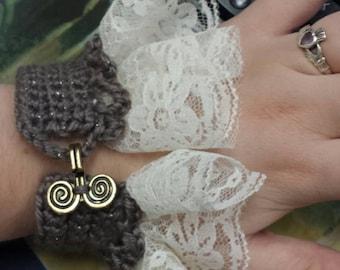 Steam punk lace cuffs