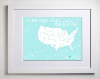 Love Knows No Distance Home Decor Print