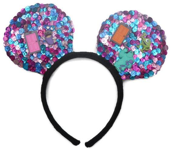 Monsters Inc Inspired Mouse Ears, Disney Inspired, Character Mouse Ears, Handcrafted Mouse Ears, Cosplay Headband