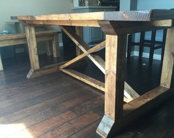 "72"" Dining Table / Kitchen Table / Desk - Farmhouse, Farm style, Rustic (Indiana Buyers) - All sizes available"