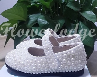 ivory girl shoes, baby girl shoes, infant girl shoes/custom girls shoes/mary jane children shoes/ivory toddler shoes/handcraft pearl stones