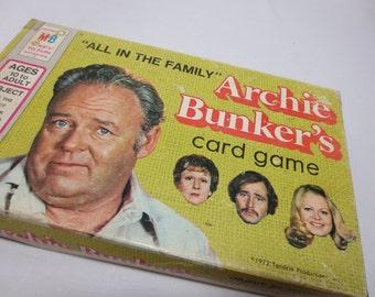 Archie Bunker's Card Game / Milton Bradley