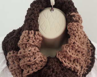 Ready to ship ! Super chunky tube scarf