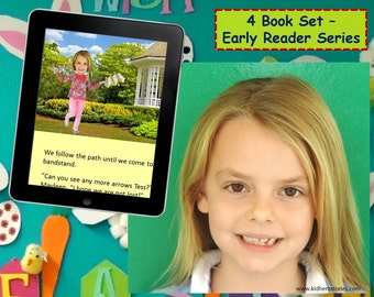 4x Personalized Children's Books with Photo- Set of 4 personalized kids eBooks for Early Readers with their photo and name.