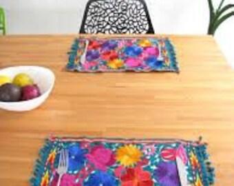 Mexican 100% handmade individual table setting