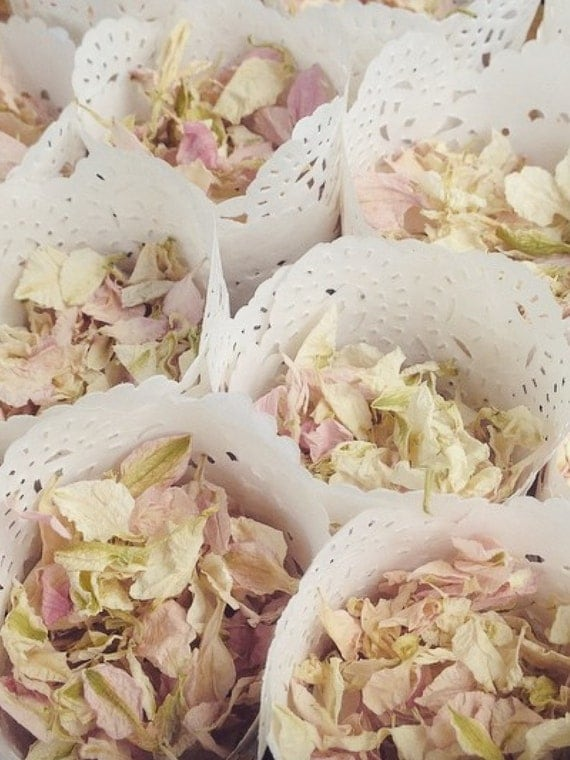 Pre Made Cones of Natural Dried Petal or Lavender Confetti