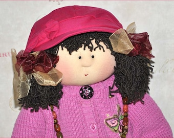 "Little Souls Doll, Little Souls Swanky, Little Souls Mindy 24"", Gretchen Wilson, Cloth Dolls, One-Of-A-Kind, Dolly Mama, Ooak"