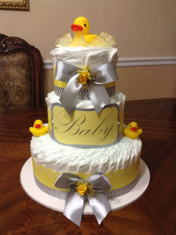 Rubber Ducky Diaper Cake Elegant Diaper Cake Rubber Ducky