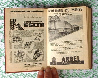 French Book on Mines. Dunod Engineering Technology Aide Book 1964 Vintage Aide-mémoire Livre