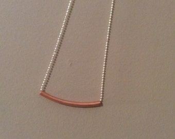 raws copper piping necklace