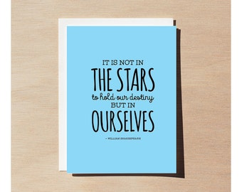 Greeting Card - William Shakespeare - Not In The Stars