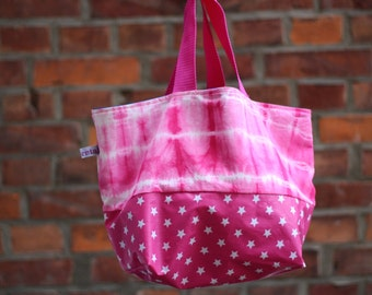 Shopper with batik pattern pink