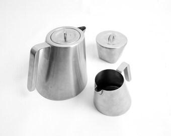 Arttd'inox Stainless Steel Three Piece Tea Set