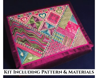 Canvaswork Embroidery Design - Pathways of Colour - KIT