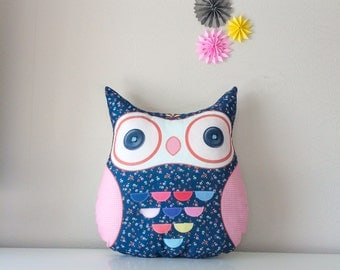 Owl pillow, stuffed owl, pillow owl