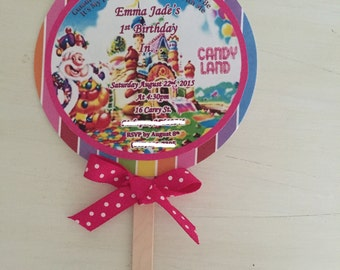 Candy Land Invitations