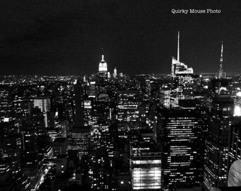 Instant Digital Download, New York City Skyline Photography, Empire State Building Black and White Photography Still Life Fine Arts Wall Art
