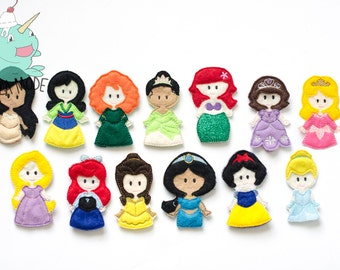Complete Princess Inspired Finger Puppets