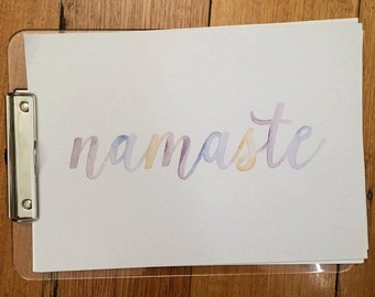 Watercolour Calligraphy Names & Quotes (handmade and made to order)