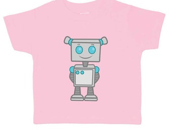 Girl Robot Toddler T-Shirt