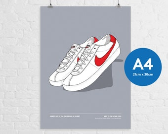 Nike Bruin Low x Back To The Future A4 Print