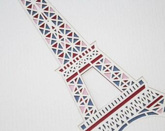 Complex Eiffel Tower Layered Lasercut
