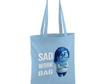 Inside Out Inspired Sad Work Day Tote Bag