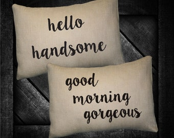 "Good Morning Gorgeous 12""x16"" Pillow Set"