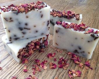 Soap bar, Rose & Vanilla soap, handmade soap
