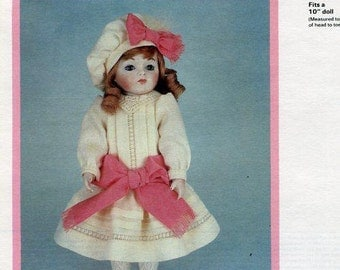 """FREE usa SHIP Byron Doll Pattern 1980's 10"""" BY-209 Bru Jne 9 Laurie Old Store Stock Sewing Pattern"""