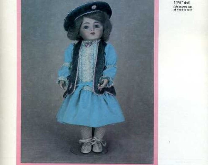 """FREE usa SHIP Byron Doll Pattern 1980's 214 Dress Hat Undergarments Fits 11 3/4"""" doll Old Store Stock Sewing Pattern"""