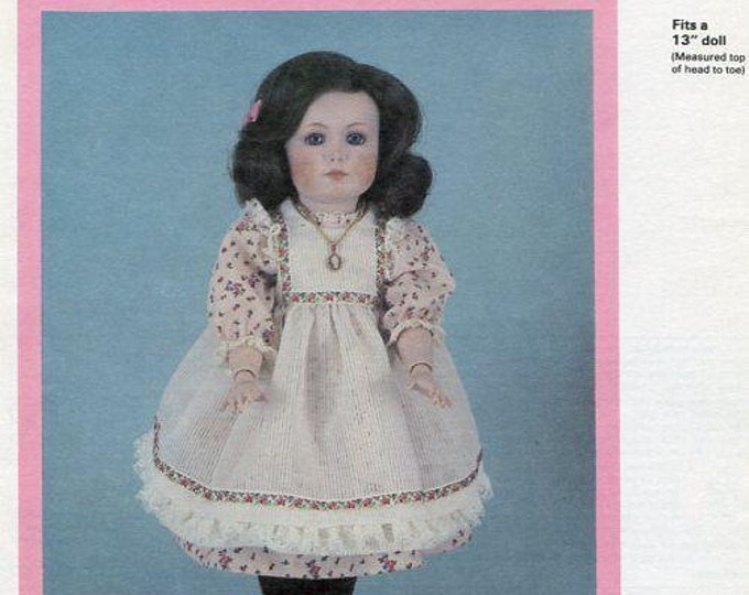 """FREE US SHIP Byron Doll Pattern 1980's By-216 Mein Liebling 13""""  Old Store Stock Sewing Pattern"""