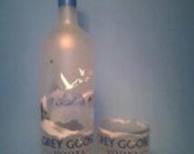 Grey Goose ® Short Recycled Glass Liquor Bottle Tumbler