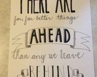 CS Lewis Hand-Lettered Quote