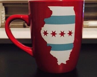 Chicago Flag mug - Chicago, IL - Illinois mug