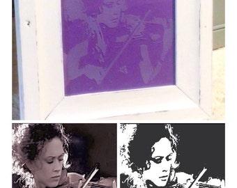 Custom Photo Glass Etching
