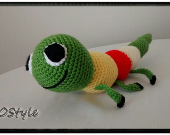 Cute millipede/Hand made/fairtrade toys/child toys/kids toys/baby toys/soft toy/stuffed animals/infant toy/crochet toys/Gift