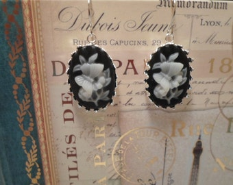 Cameo Style Earrings