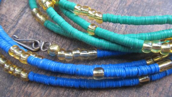 VANIA custom made waist beads, vinyl vulcanite beads, seed beads, 7 colors, watch video amd leave size
