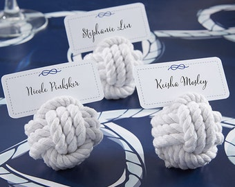 Nautical Cotton Rope Place Card Holder (Set of 12)