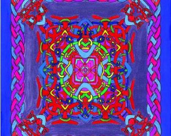 Celtic Knotwork Mandala Floursecent Trippy