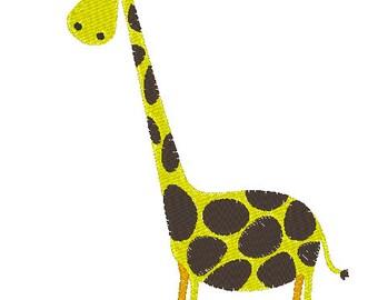 Giraffe embroidery design in 5 sizes