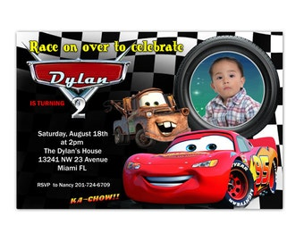 Disney Cars Birthday Invitation - Printable or Printed