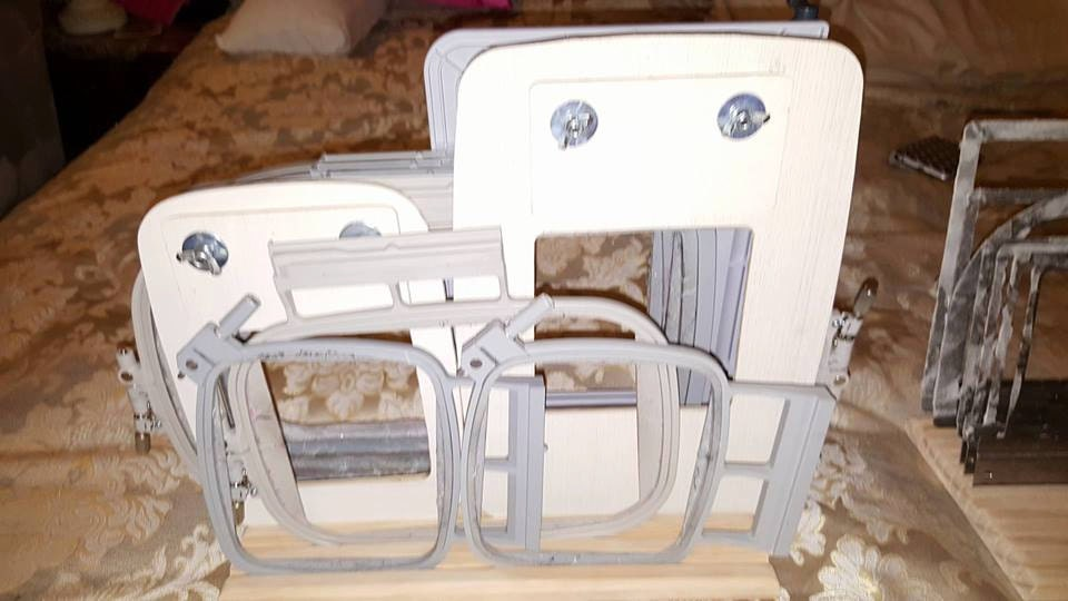 Embroidery hoop organizer wide grooves
