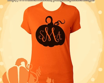 Personalized Monogram Pumpkin Tee
