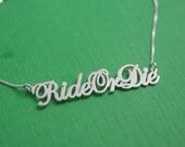 Ride Or Die Necklace / RideOrDie Necklace / motocross / motocross jewelry / motorcycles lover / Name Necklaces / Name Necklace / Rider