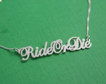 Motorcycle rider etsy for Ride or die jewelry