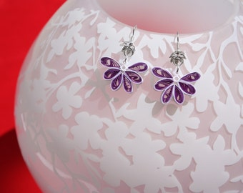 Handmade Quilling Earrings - Butterflies; Multiple colors available